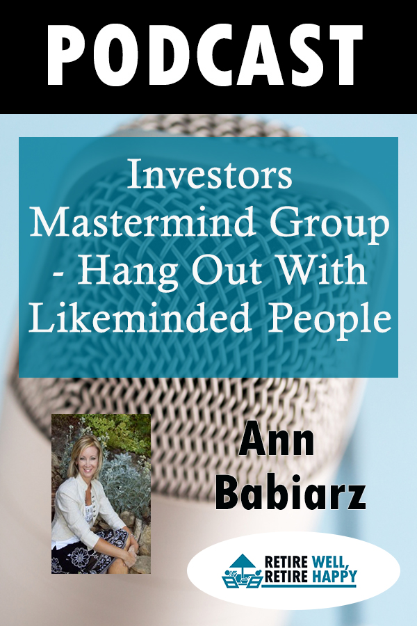 Investors mastermind group - hang out with likeminded people