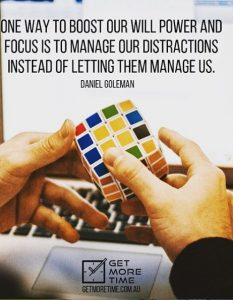 focus is to manage our distractions instead of letting them manage us